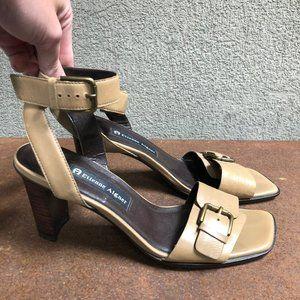Etienne Aigner Vintage Square Toe Sandal  Heel - 7